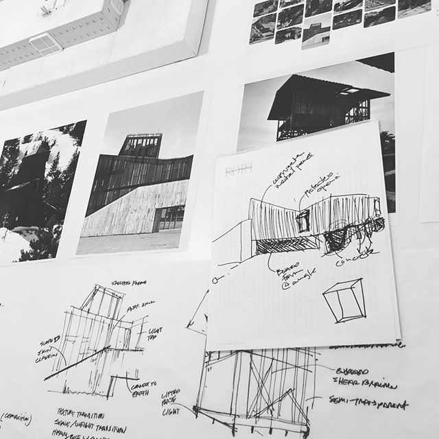 Sketching and collaboration is key to a successful design! #architecture #studio #rothsheppardarchitects #design #designer