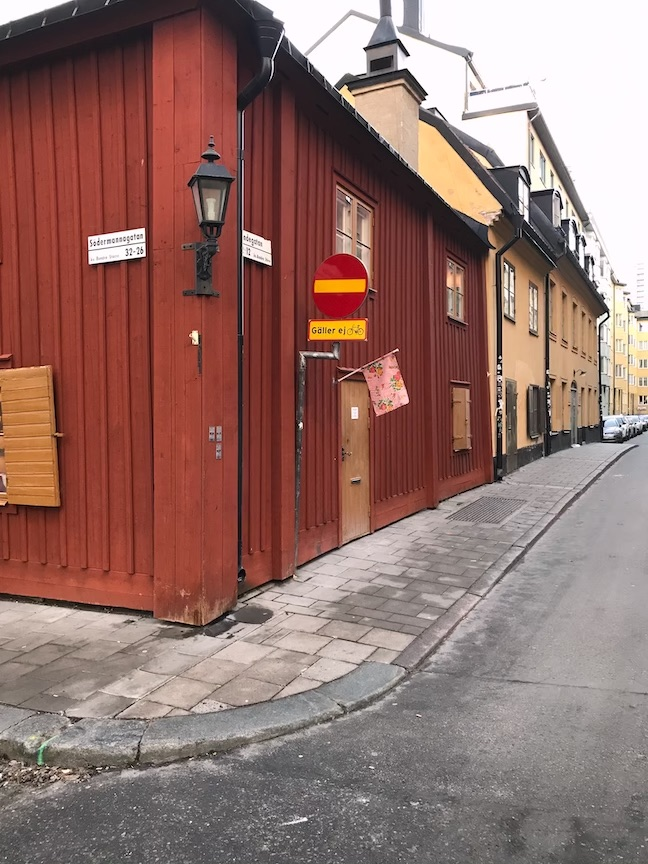 House painted with Falun Red in Stockholm, Sweden.