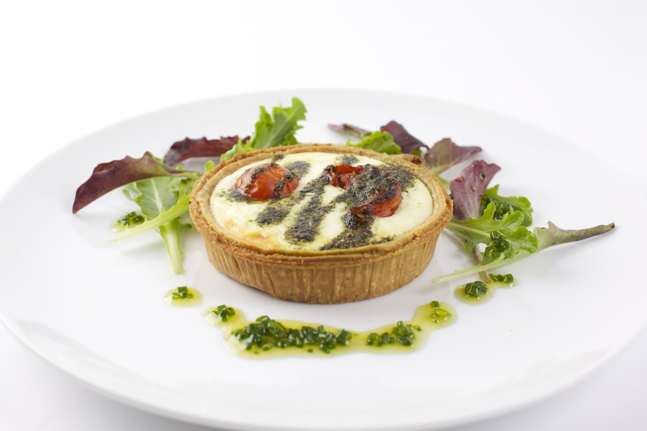 "Mascarpone Provençale Tart on  4"" Short Cheese Pastry   Product code -FF5240Shlw"