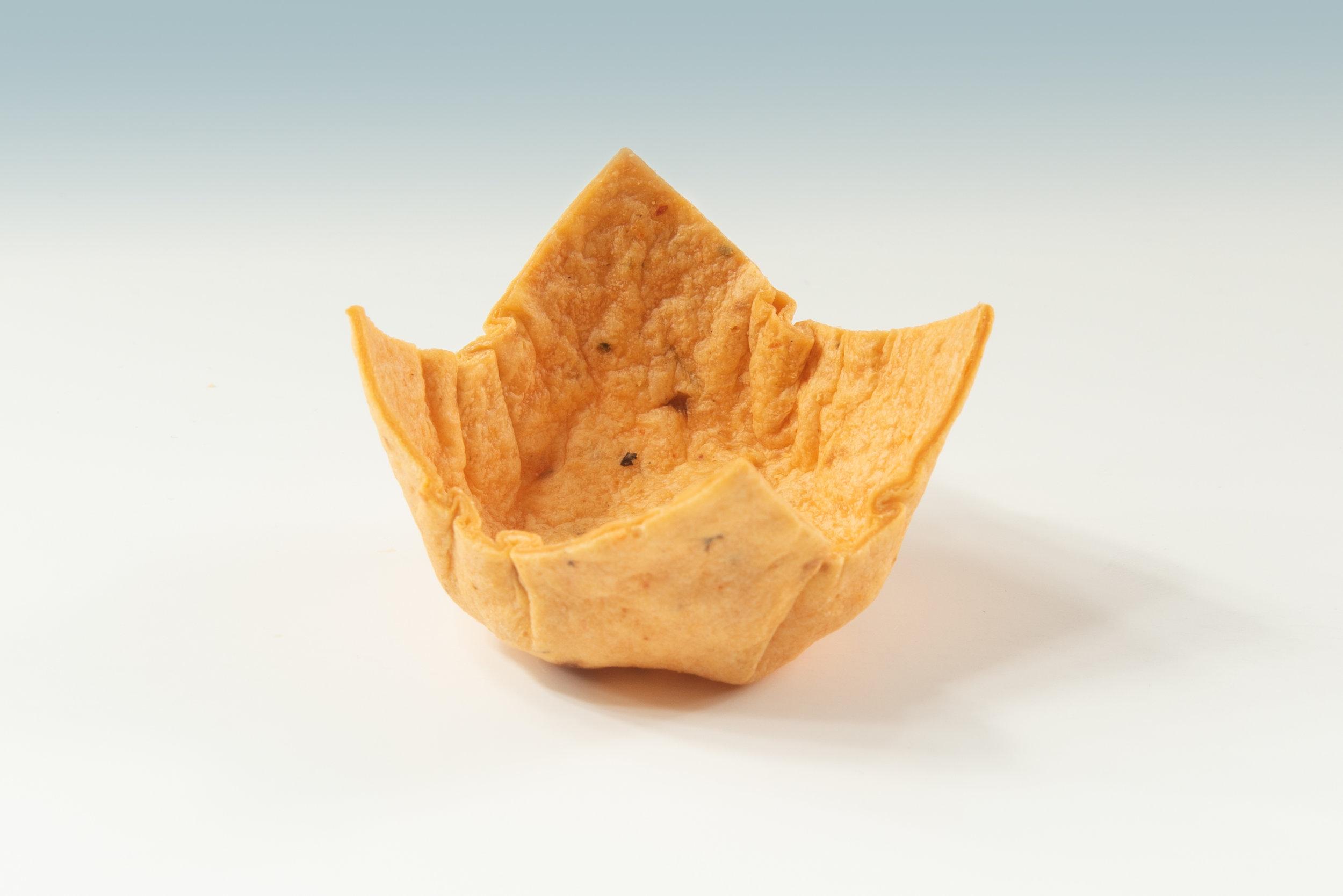 """1 """" Tomato Tortilla Crown  Product code - FF4115 Dimensions - 4.7 x 2.5/0.5 360 units per box"""