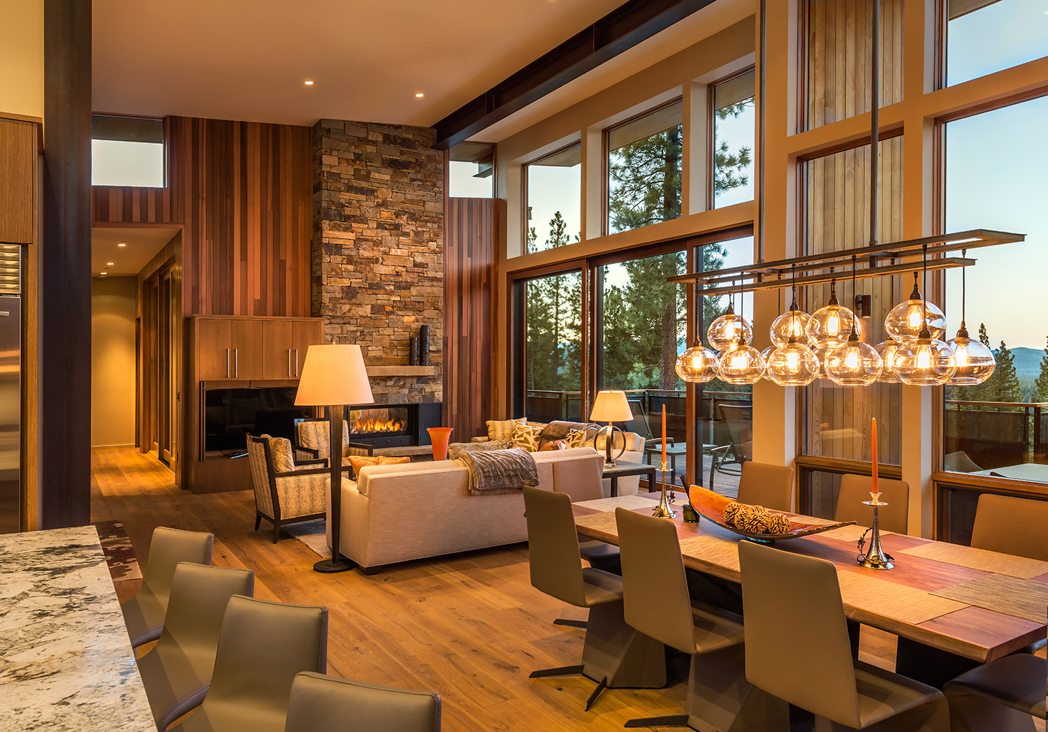 Lot 588_Great Room View_Wood Paneling_Masonry_Dining Chandelier.jpg