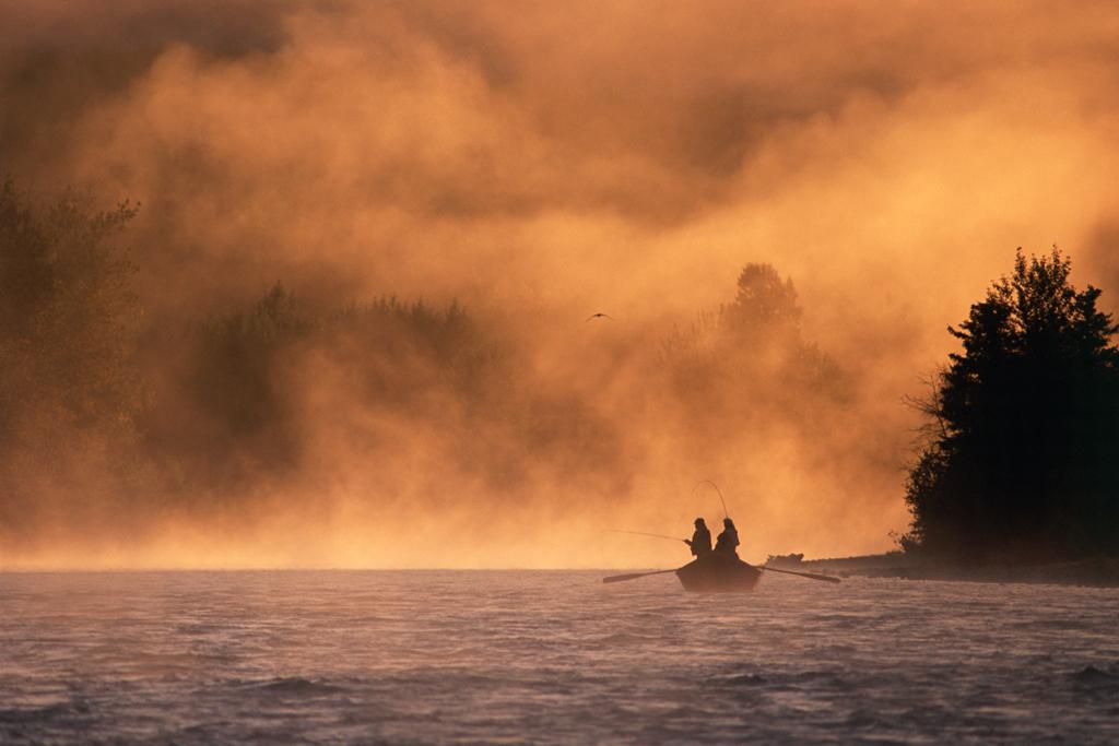 Sunrise on the Kenai River, Alaska