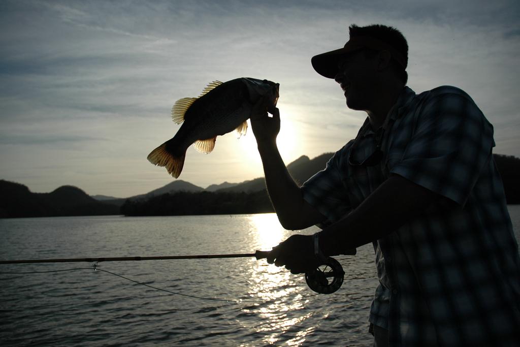 Largemouth bass on Lake Mateos, Mexico
