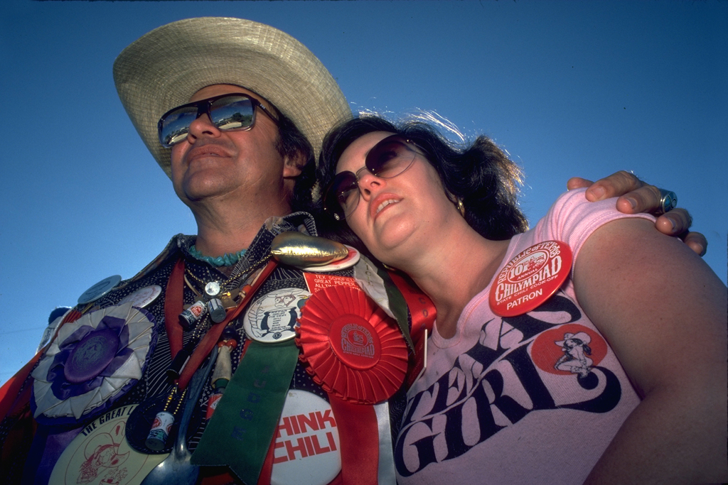 World Chile Champion Tex Scotfield and girlfriend for Texas On The Halfshell book