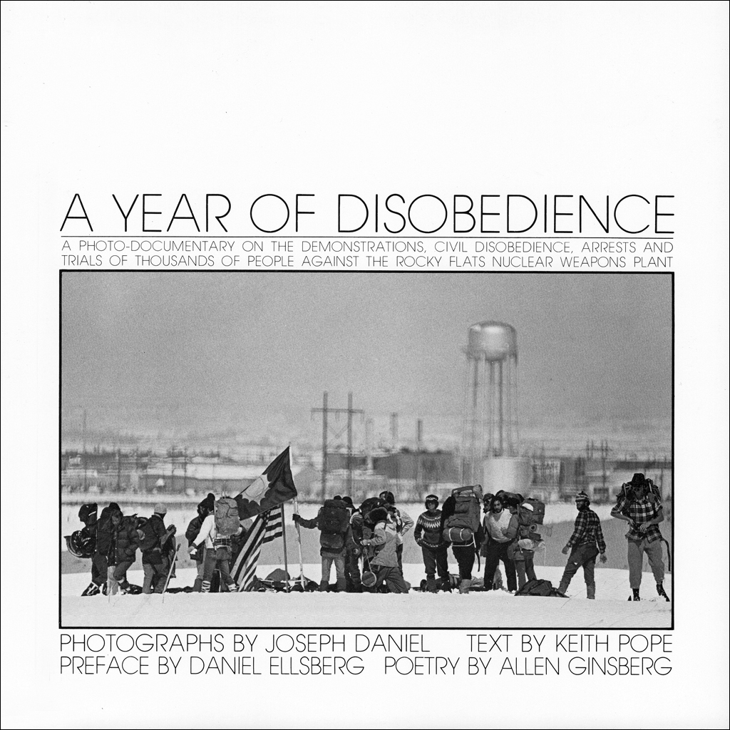 The photographs in this gallery are from a book of 56 images entitled, A Year of Disobedience: A Photo-Documentary of the Demonstrations, Civil Disobedience, Arrests and Trials of Thousands of People Against the Rocky Flats Nuclear Weapons Plant.