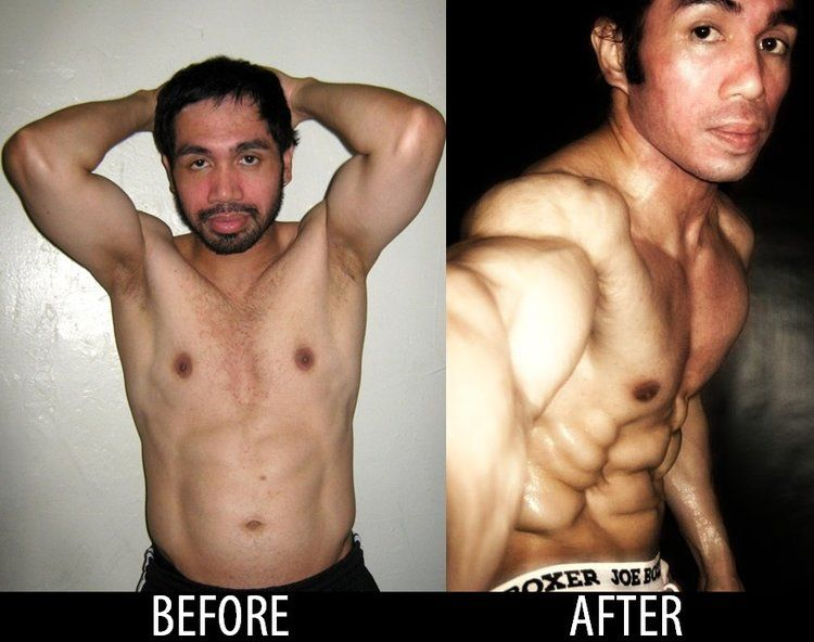 Michael James Tamondong Before and After Bodybuilding Transformation
