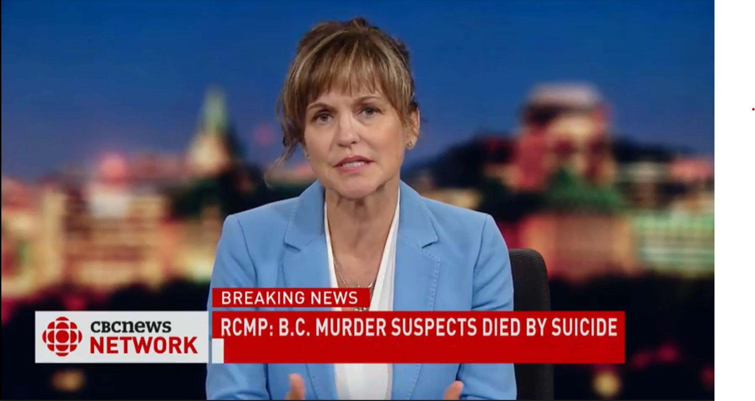 EN - CBC National News with Carol McNeil - Autopsy reveals death by suicide | 2019 08 10