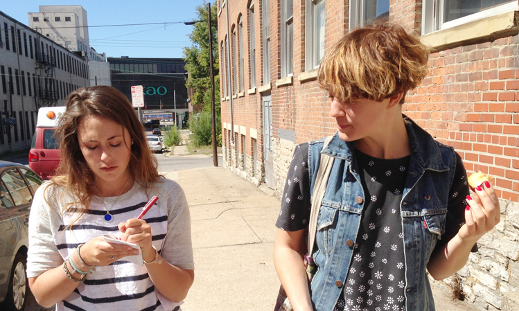 Right: Rosie Kovacs; Left: Chelsea Amsley, People's Liberty Resident