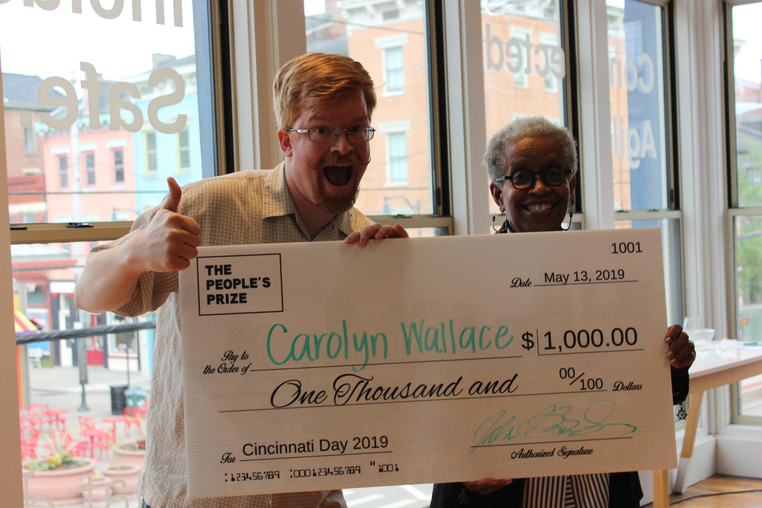 Carolyn Wallace , nominated by Globe Grantee John Bromels