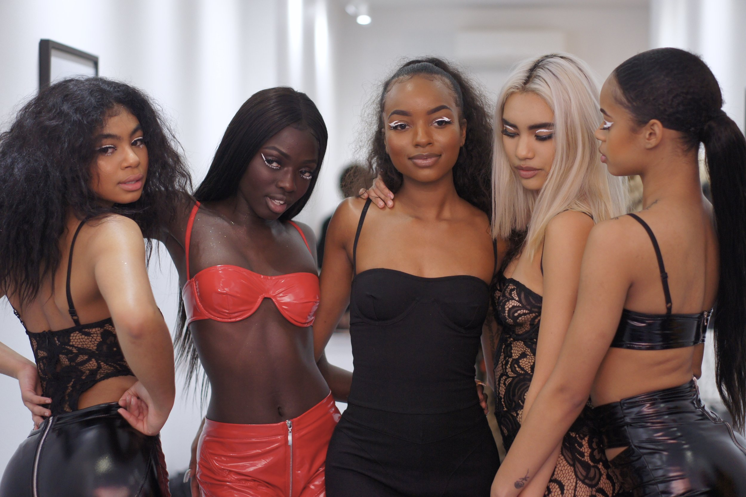 MATTE BRAND FOUNDER,       BRIANA WILSON  AT NYFW POP UP WITH HER MODELS:  NYLALEE  ,    SOUKEYNA   ,    ELYANNA  , &  RAIN  .