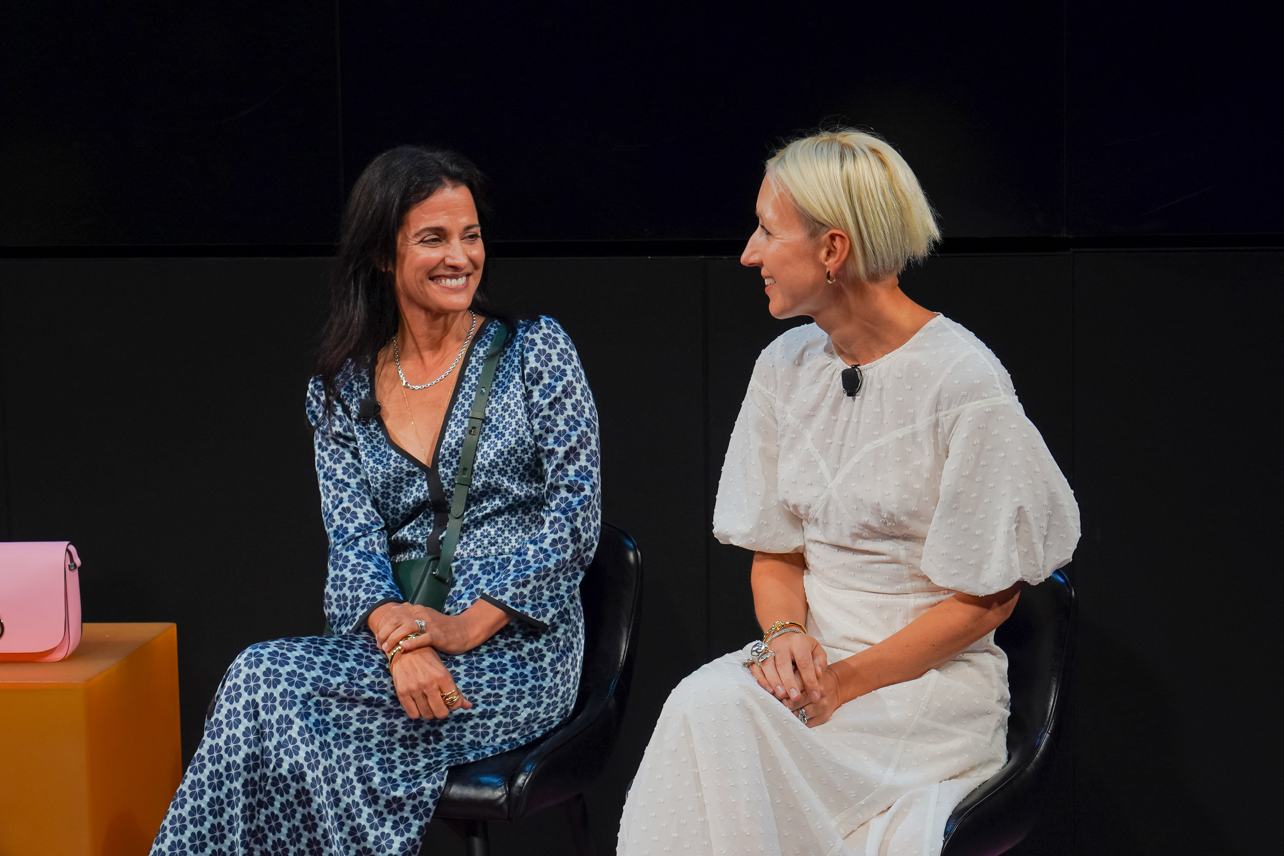 (L-R) Kate Spade's CEO Anna Bakst & Creative Director Nicola Glass together