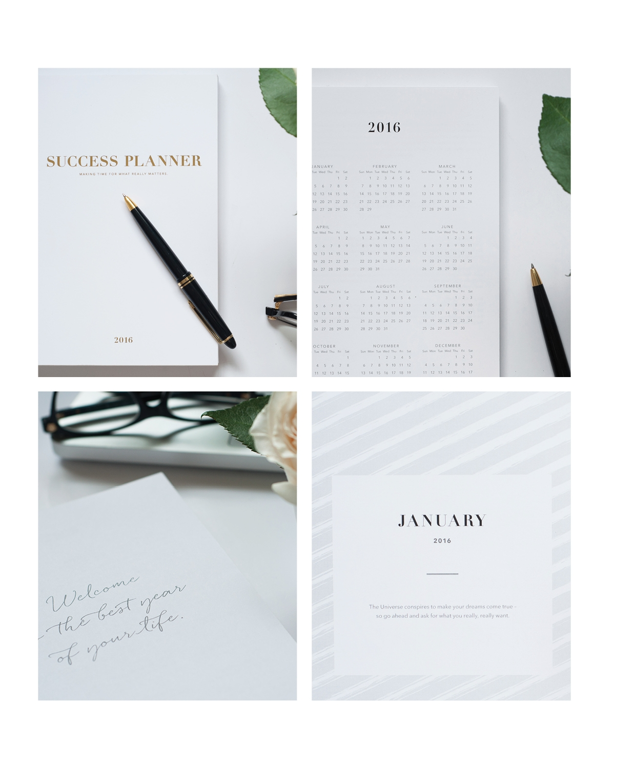 Copywriting of a calendar year, Success Planner.