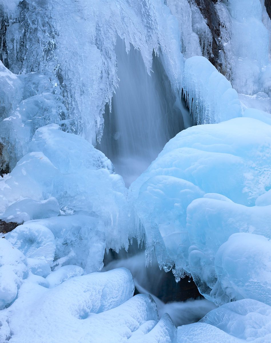 Ice Falls, Glenn Alpine Falls, Lake Tahoe