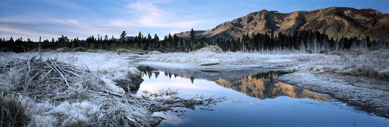 Frosty Morning, Taylor Creek and Mount Tallac Panorama, Lake Tahoe