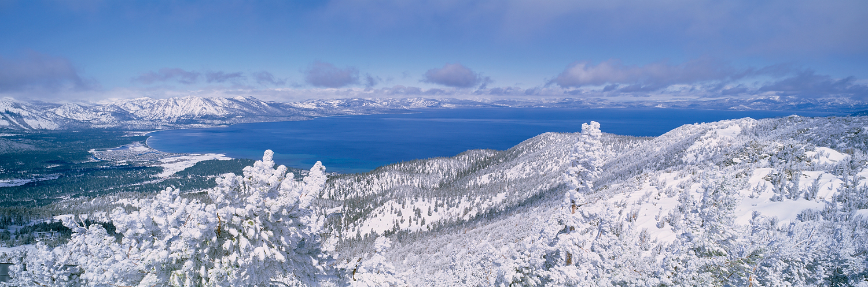 Spring Snow Panorama, Heavenly, Lake Tahoe