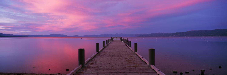 Valhalla Pier Sunset Panorama, Lake Tahoe