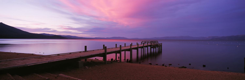 Valhall Pier Sunset Panorama II, Lake Tahoe