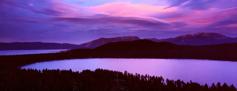 Wave Clouds Over Fallen Leaf Lake, Lake Tahoe