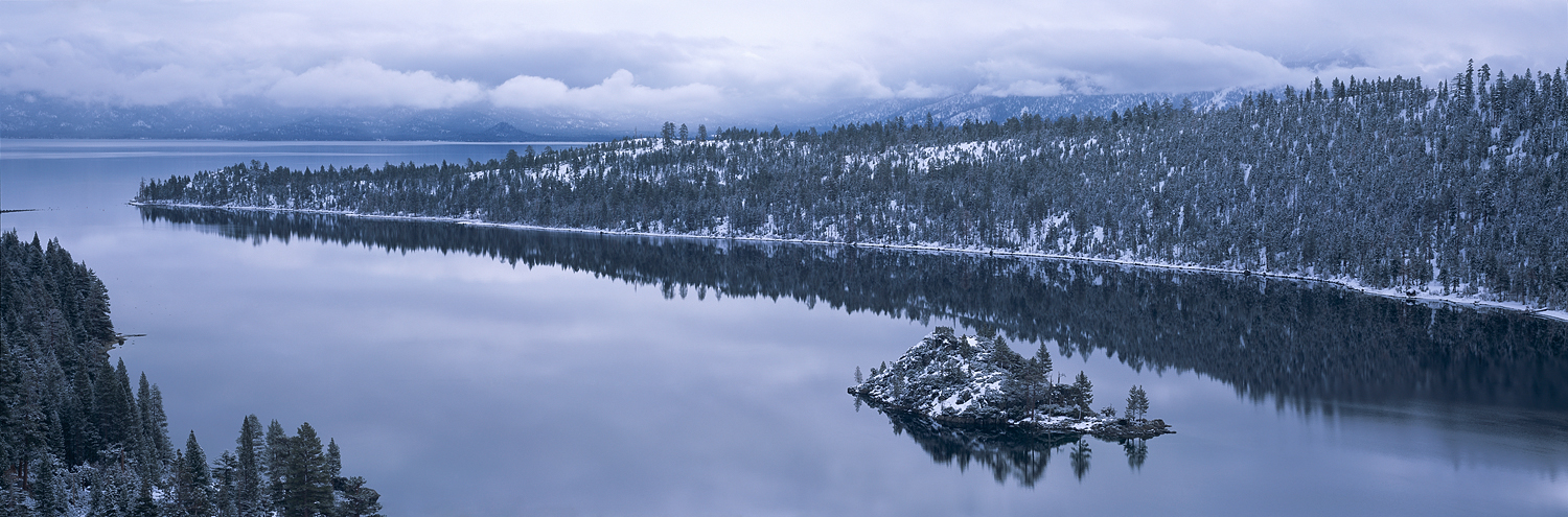 Emerald Bay Winter Panorama, Lake Tahoe