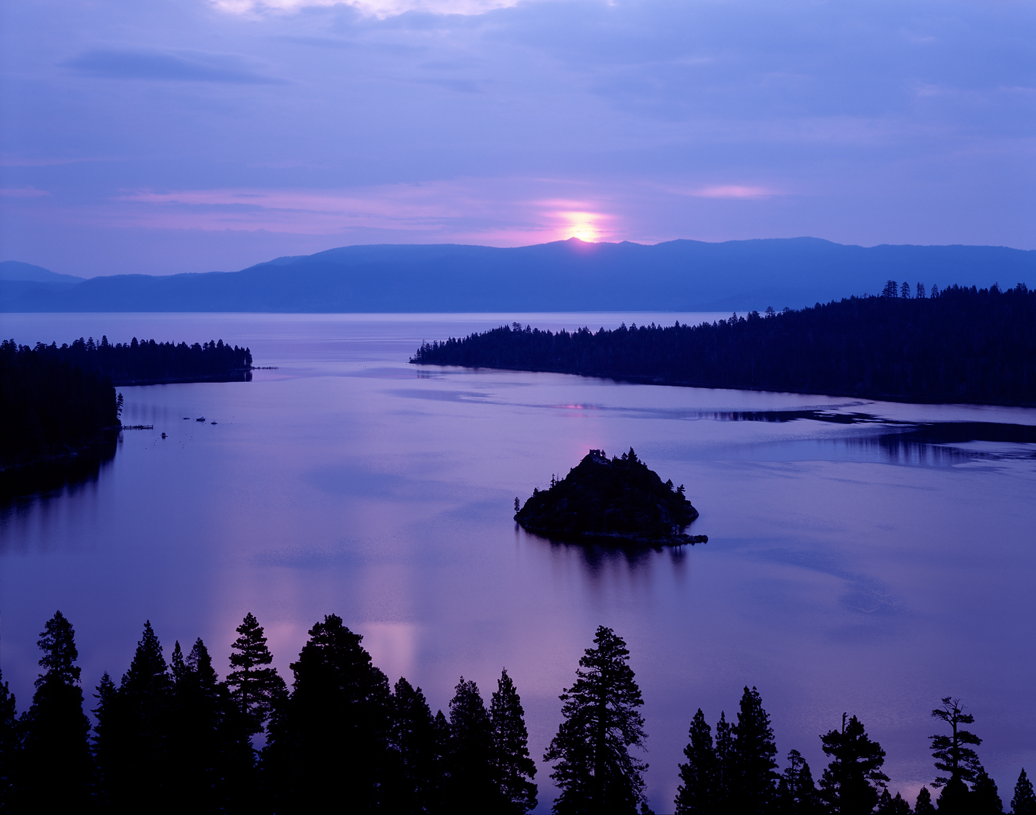 Lavender Sunrise, Emerald Bay, Lake Tahoe