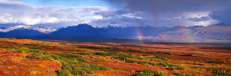 Double Rainbow Panorama, Denali