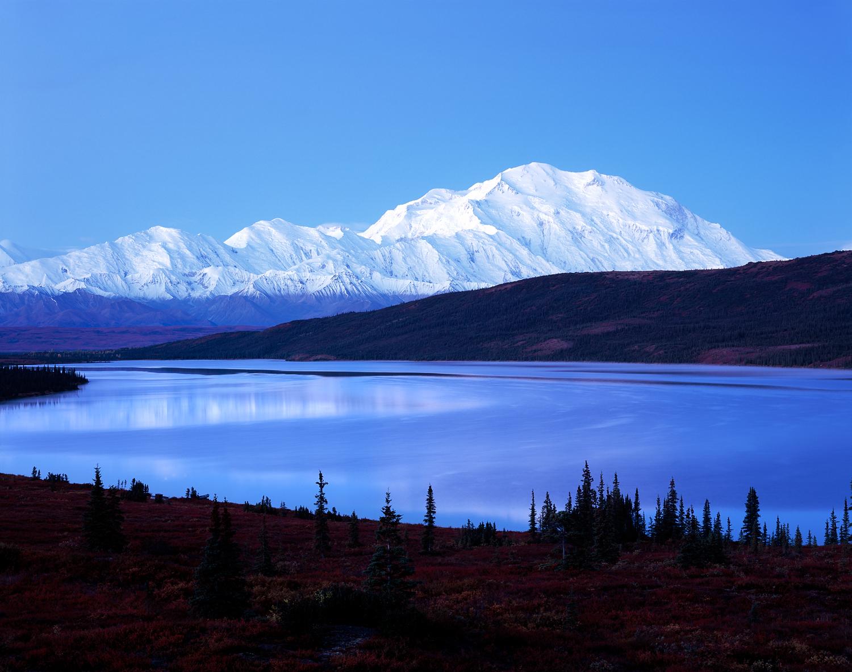Pre-Dawn Blue, Wonder Lake, Denali