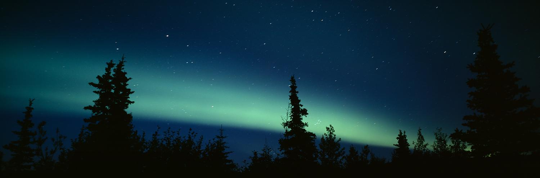 Aurora Borealis Panorama, Denali