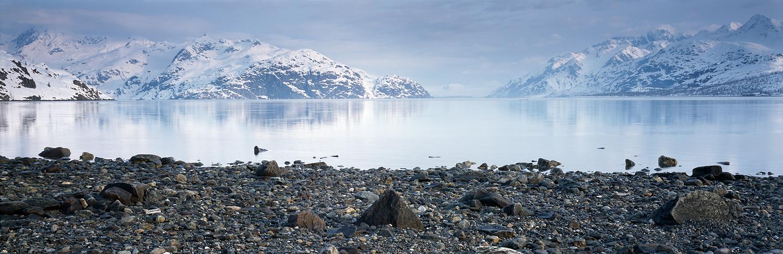 Glacier Bay from Reid Inlet Panorama, Alaska