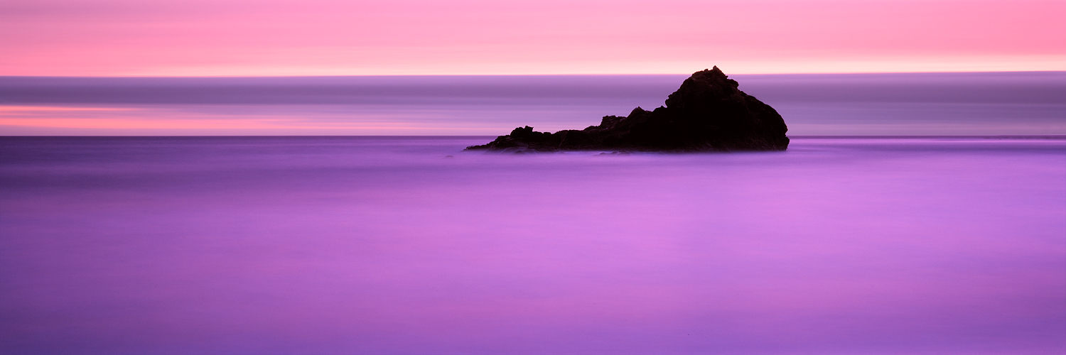 Pastel Ocean Panorama, Pfeiffer State Beach, Big Sur, California