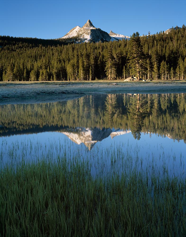 Cathedral Peak Reflection, Tuolumne Meadows, Yosemite