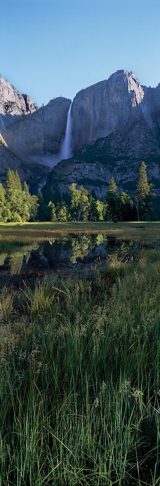 Yosemite Falls Panorama, Cooks Meadow, Yosemite Valley