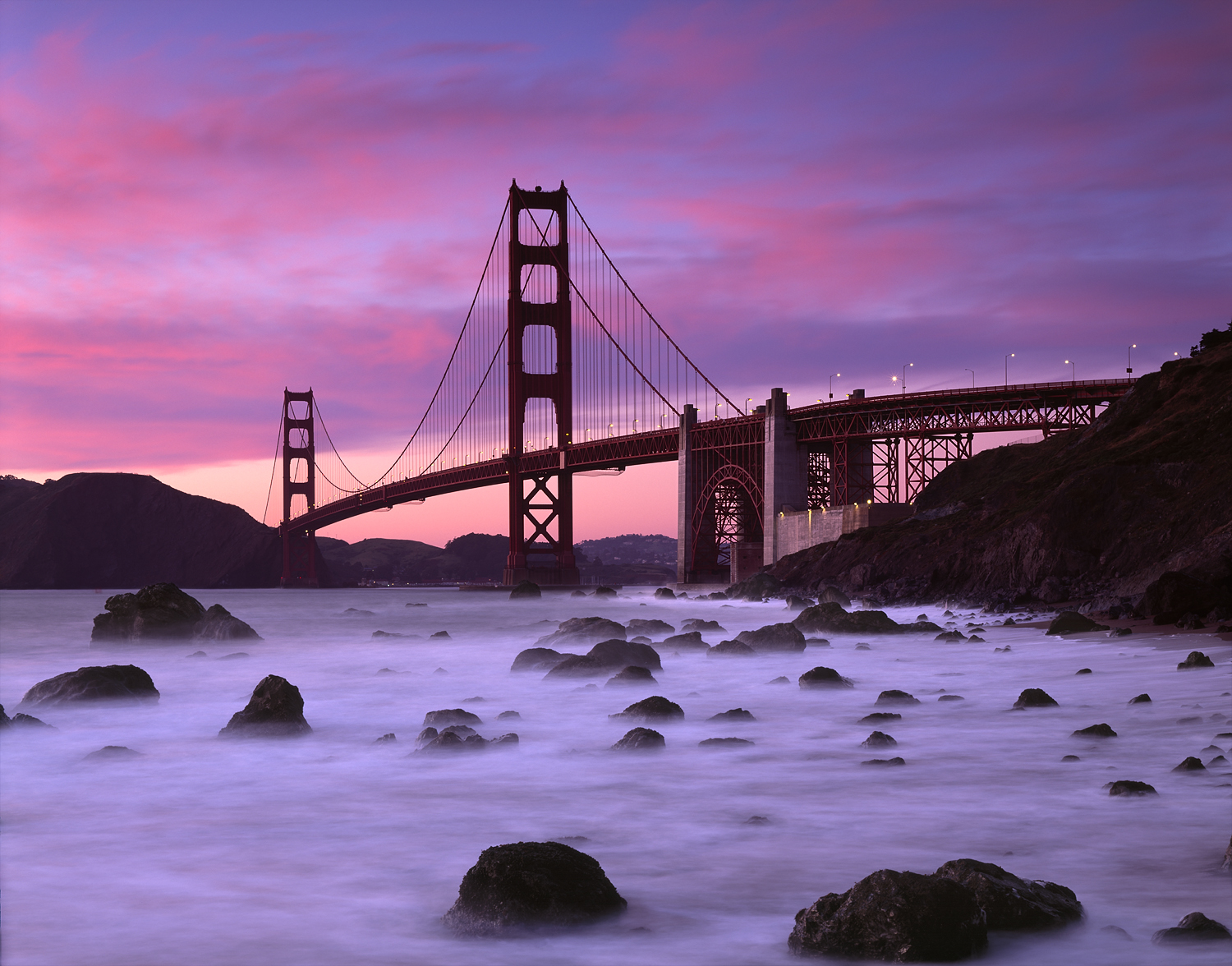 Golden Gate Sunset, Baker Beach, San Francisco, California