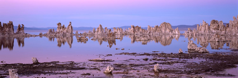Mono Lake, Dusk, Panorama, California