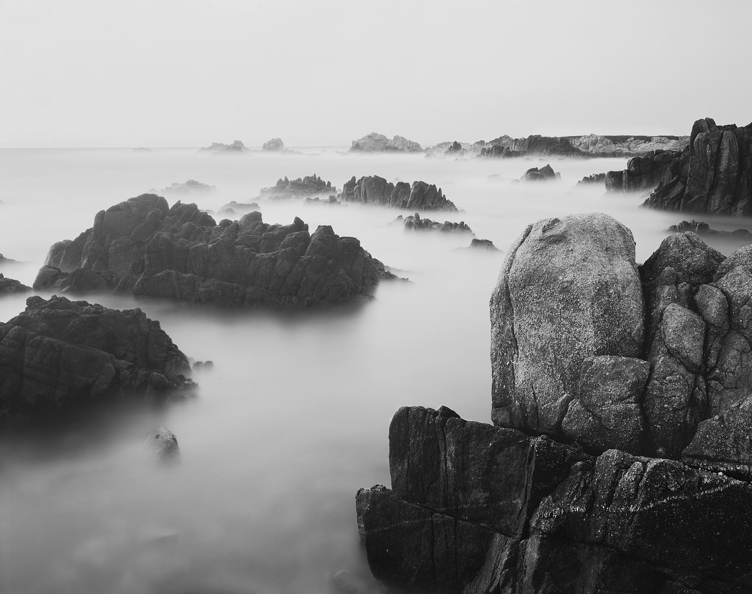 Monterey Dusk Black and White, California