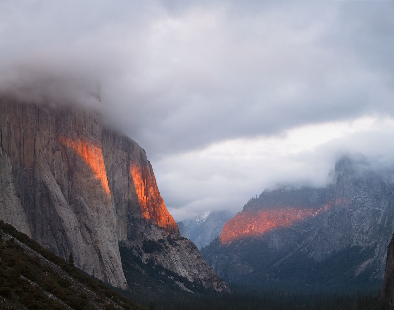 Storm Light, Tunnel View, Yosemite Valley, California