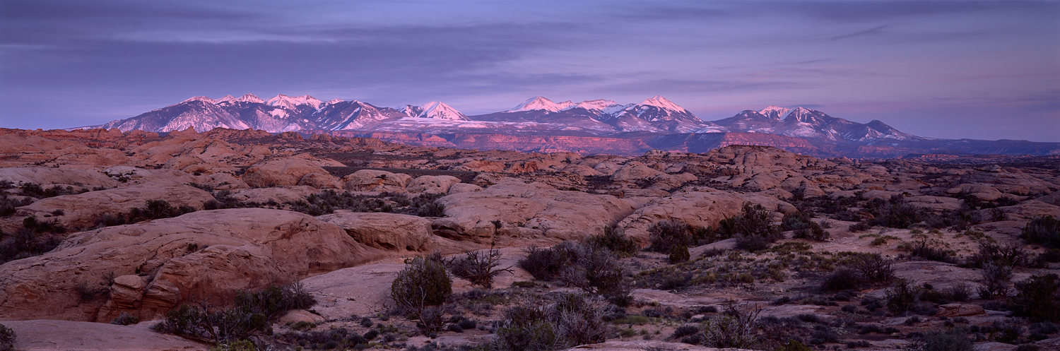Petrified Dunes and La Salle Mountains, Arches National Park, Utah