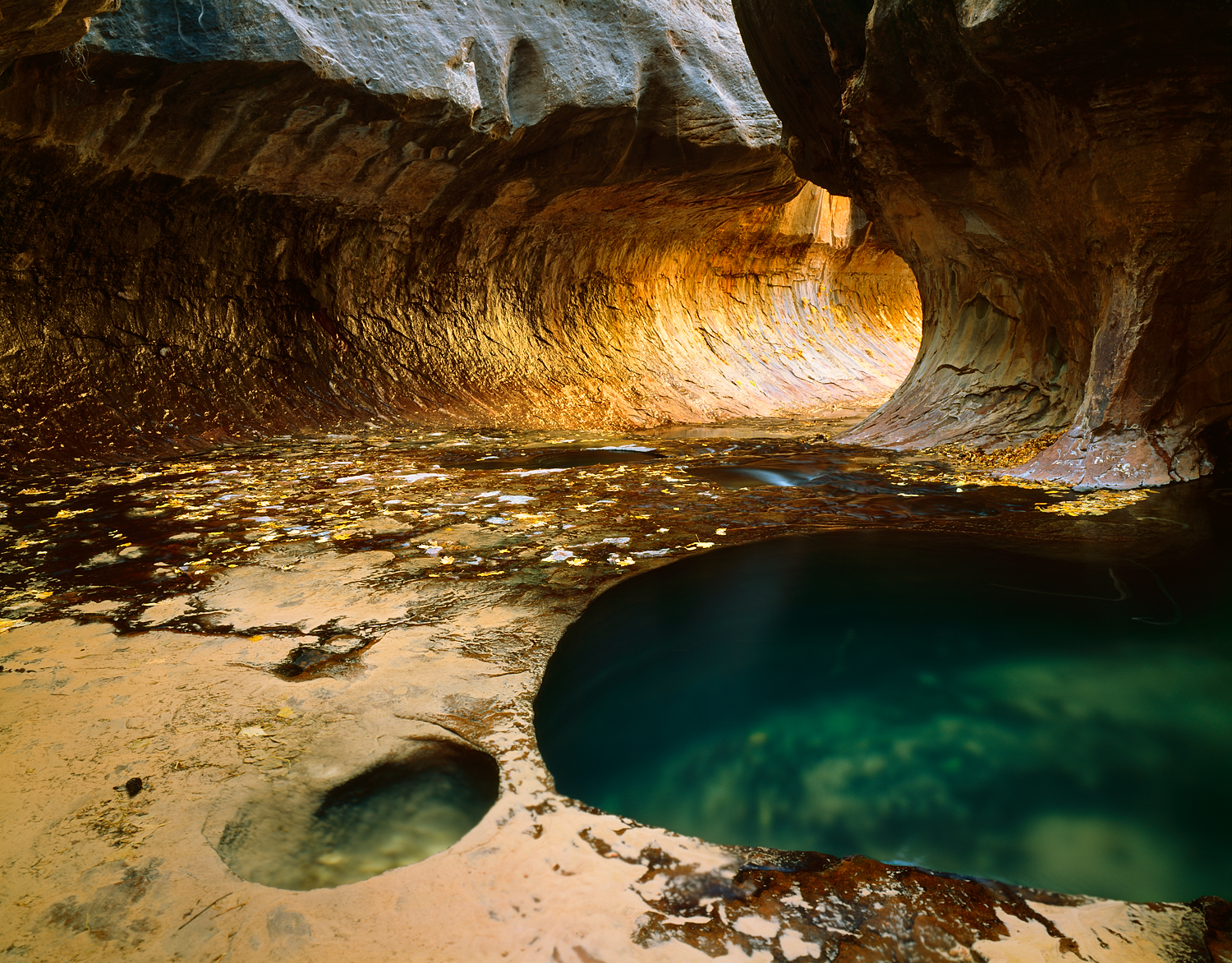 The Subway and Pool, Zion National Park, Utah