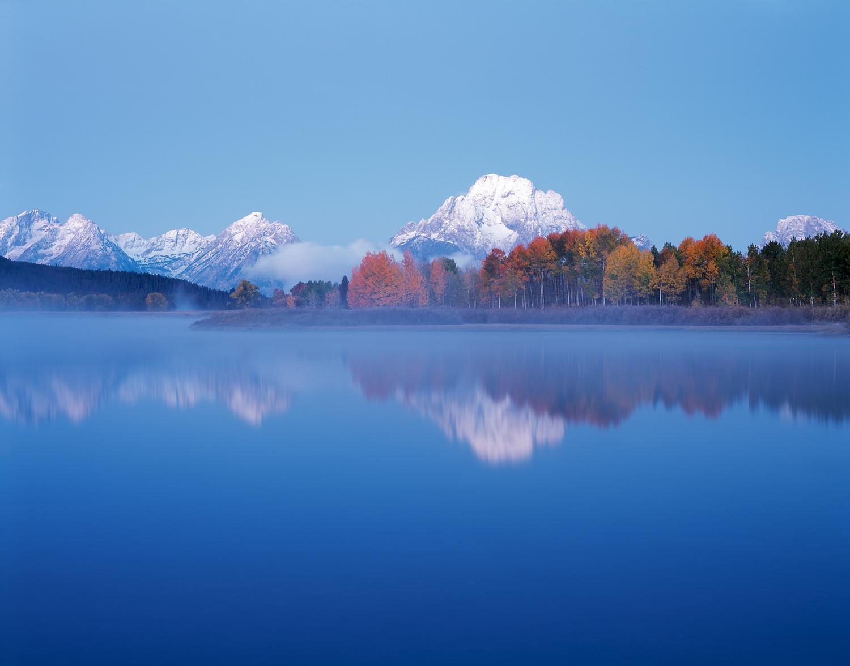 Misty Dawn, Oxbow Bend, Grand Teton National Park