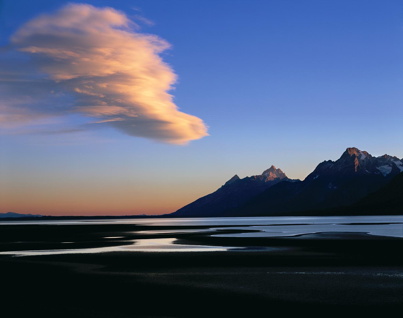 Sunset, Drying Lake, Yellowstone