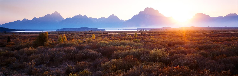 Sunset Glow, Willow Flats, Yellowstone