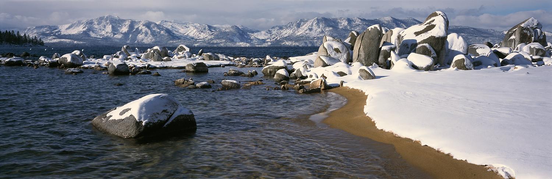 Zephyr Cove Winter Panorama, Lake Tahoe