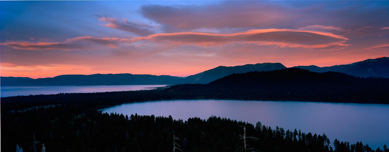 Sunset Over Fallen Leaf, Lake Tahoe