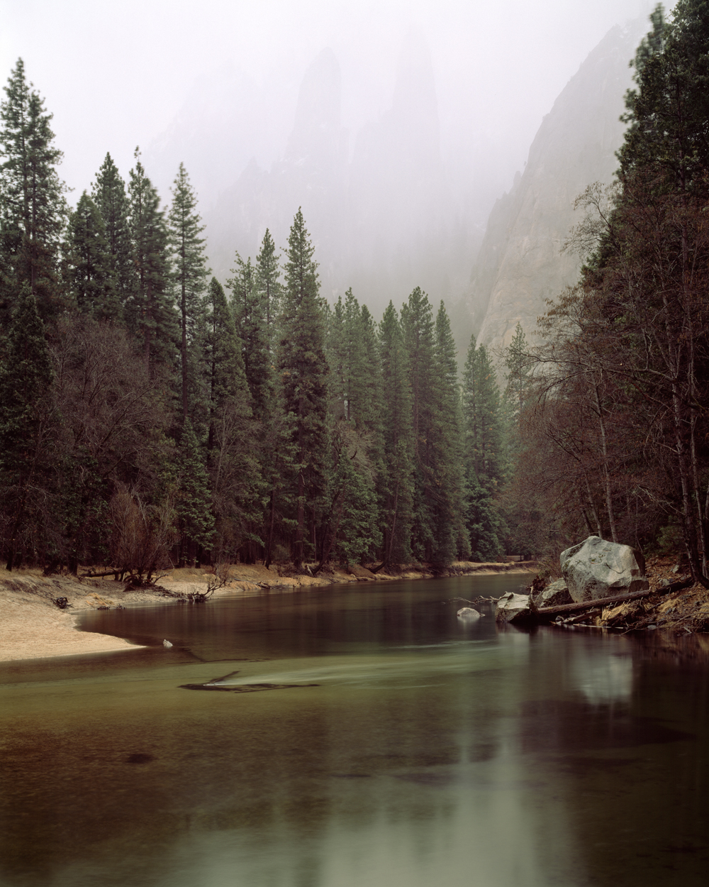 Merced River and Spires