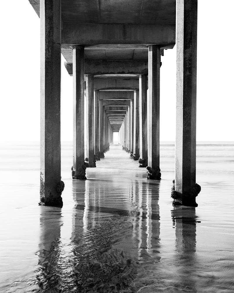Scripps Pier Black and White II