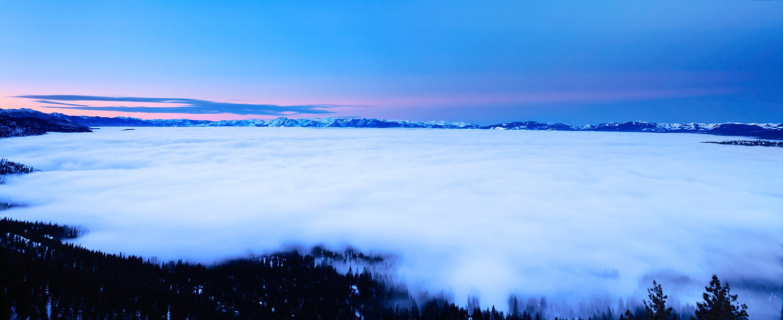 Lake Tahoe Inversion, Pre-Dawn Glow, Lake Tahoe