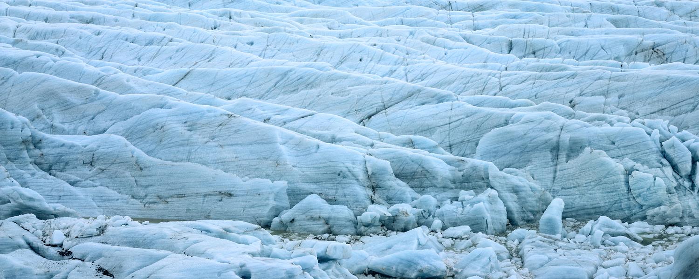 Iceberg Detail Panorama, Jokusarlon, Iceland