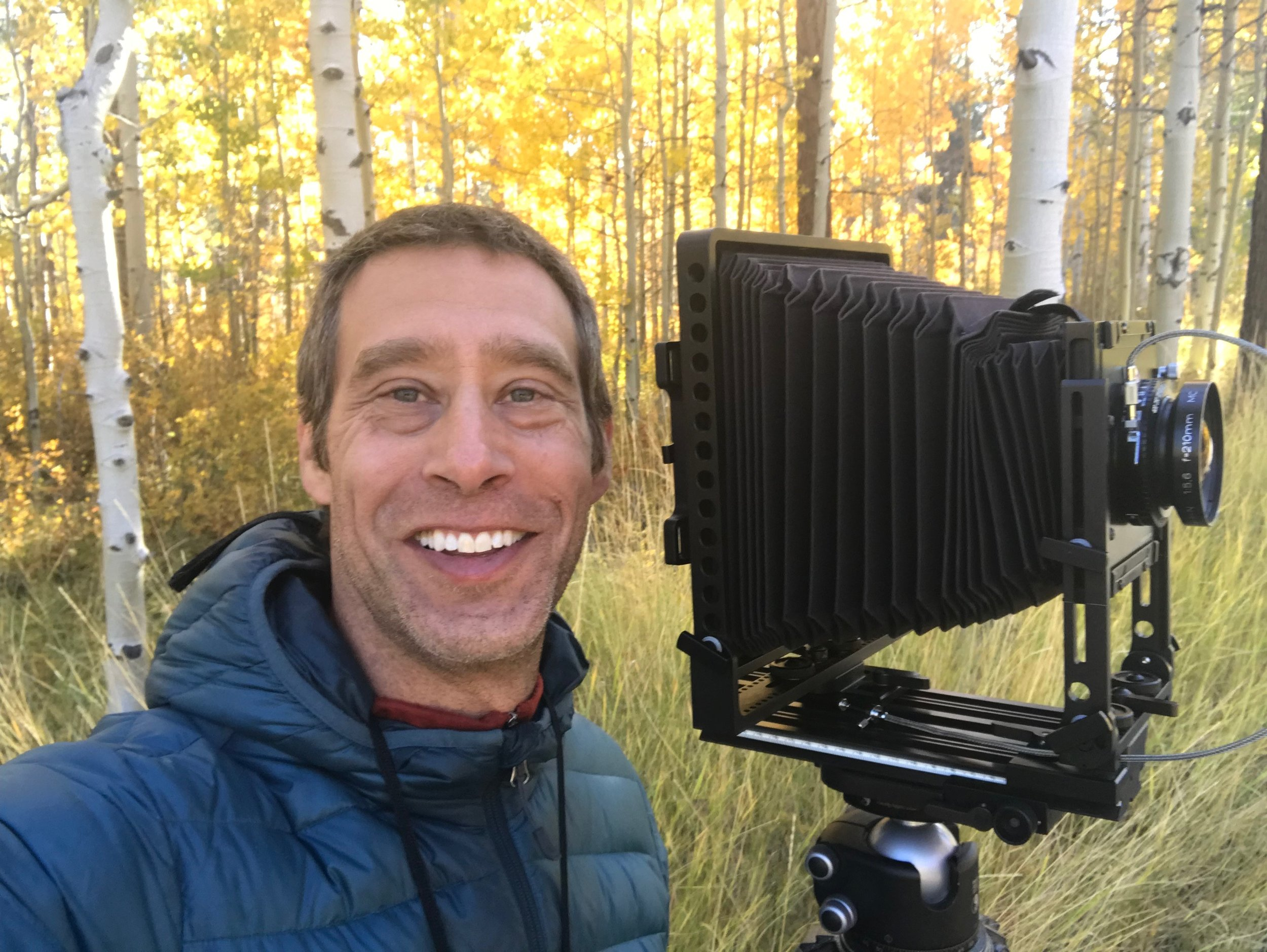 Jon Paul with his large format film camera