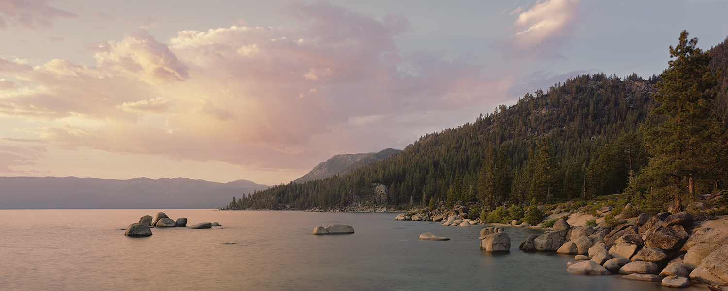 Sunset Panorama, East Shore, Lake Tahoe