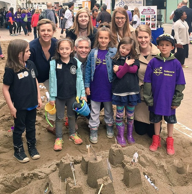 """Expert sandcastle builders with Sandbox Founder Kellie Leitch, MP (Simcoe-Grey); Mike Lake,  MP (Edmonton-Wetaskiwin); and Rachael Harder, MP (Lethbridge)."""