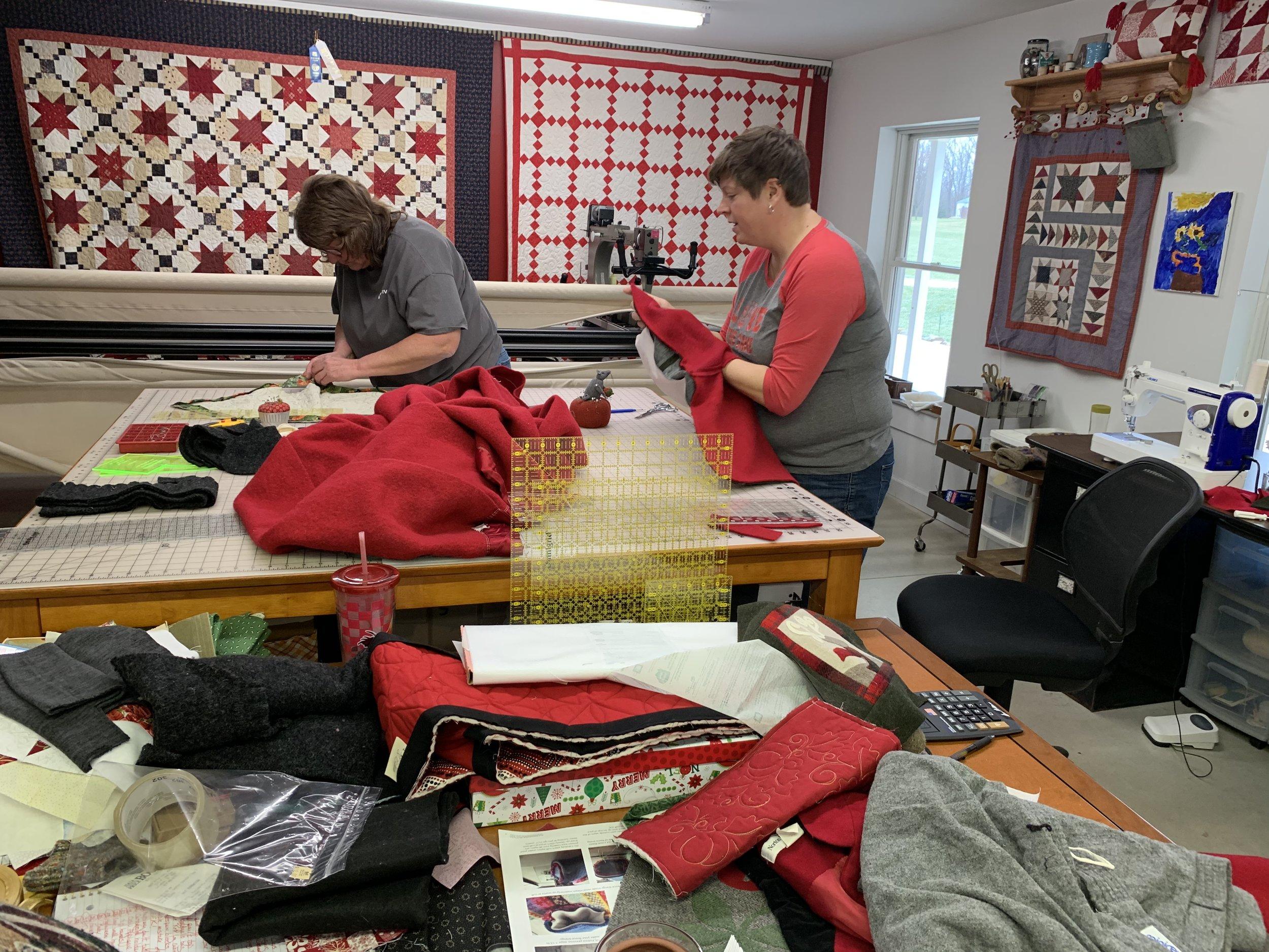 Inside the quilt studio